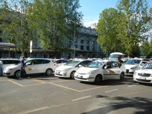 Taxis near Milan Central Rail Station
