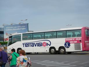 Terravision Bus from Bergamo Airport to Milan FS