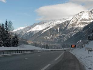 Motorway between Geneva and Chamonix