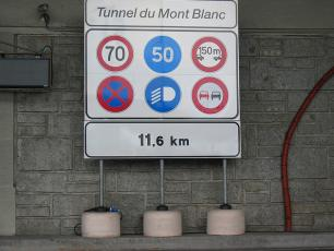 The Mont Blanc Tunnel - rules to respect