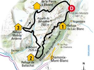 Itinéraire des Aiguilles Rouges