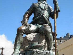 Statue du Docteur Michel Paccard, Chamonix