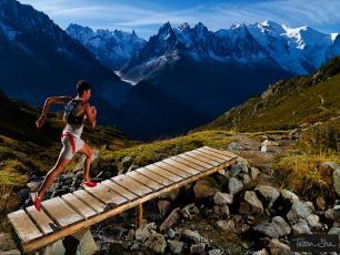Kilian Jornet running in Chamonix track