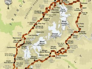 The Tour of Mont Blanc Map
