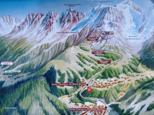La carte et le plan du Tramway du Mont Blanc