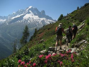 Trekking dans les Aiguilles Rouges, Chamonix