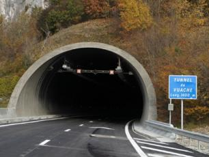 Autoroute Blanche ends up with the Tunnel de Mont-Blanc