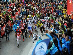 Start of the Ultra Trail du Mont Blanc - UTMB