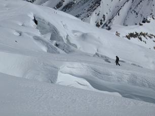 Ski la Vallée Blanche , Immenses Crevasses