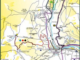 Mountain Bike Map from the Chamonix Valley