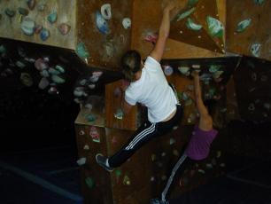 Richard Bozon Chamonix Sports Center indoor climbing wall