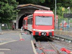 The Mont Blanc Express train. photo source: @www.ledauphine.com