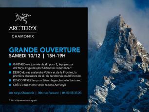 Ouverture premier magasin Arc'teryx à Chamonix