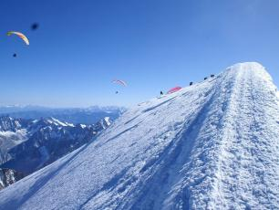 Flying from the Summit of Mont Blanc