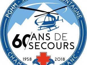 Logo: 60 ans du PGHM de Chamonix. Photo source: @www.facebook.com/pghm.chamonixmontblanc