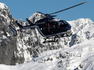 Mountain Rescue Team PGHM Chamonix helicopter