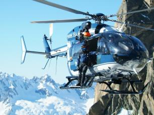 PGHM helicopter, Chamonix