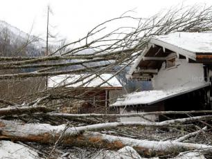 "The Bourgeat avalanche: some chalets ""damaged"". Photo source: @ledauphine.com"