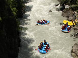 Rafting in Passy on the Arve River