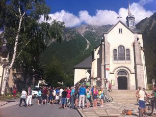 Lots of people this morning at Chamonix Church