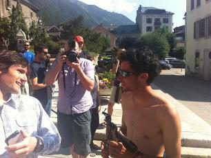 Kilian Jornet this morning after his Chamonix-Mont Blanc-Chamonix