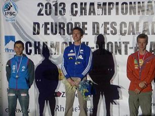 Podium European Climbing Championships 2013