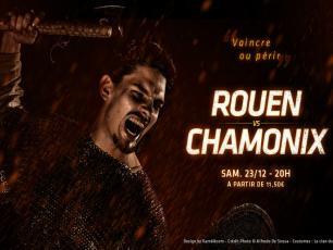 Rouen vs Chamonix, samedi 23 décembre 2017 à 20h00 sur la glace de l'Ile Lacroix à Rouen.