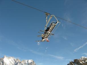 Chairlift in Chamonix, La Flégère