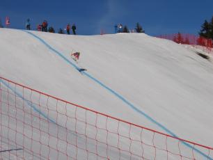 Amazing jump during The Kandahar Ski World Cup