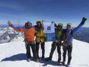 6 jours Mont Blanc parcours. photo source : @www.chamonixmontblancguides.com
