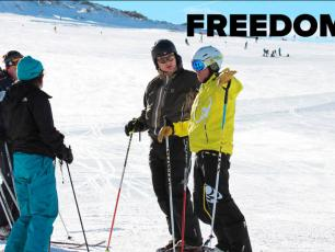 Freedom Snowsports offers dedicated and talented ski, snowboard or telemark instructors.