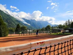 Richard Bozon tennis courts, photo source @chamonix.com