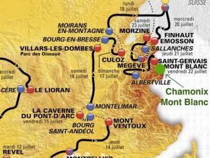2016 Tour de France route