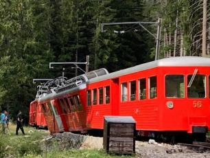 The Montenvers - Mer de Glace train suffered a derailment, photo source @www.facebook.com/michel.acacia.5