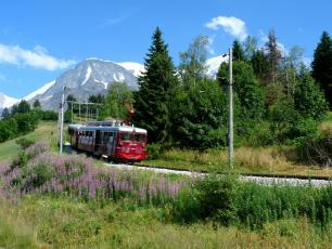 The Mont-Blanc Tramway. Photo source: @www.montblancnaturalresort.com