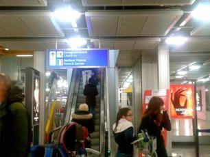 Reaching the French sector of the Geneva Airport