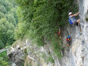 Via Ferrata du Parc Thermal in Saint-Gervais Mont-Blanc. Photo source @www.viaferrata-fr.net