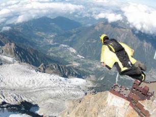 WiSBASE from Aiguille du Midi summit