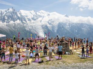 Chamonix Yoga Festival outdoors