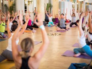 Chamonix Yoga Festival indoors