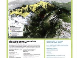 Restricted areas in the Mont-Blanc massif. @Photo source: municipal decree.