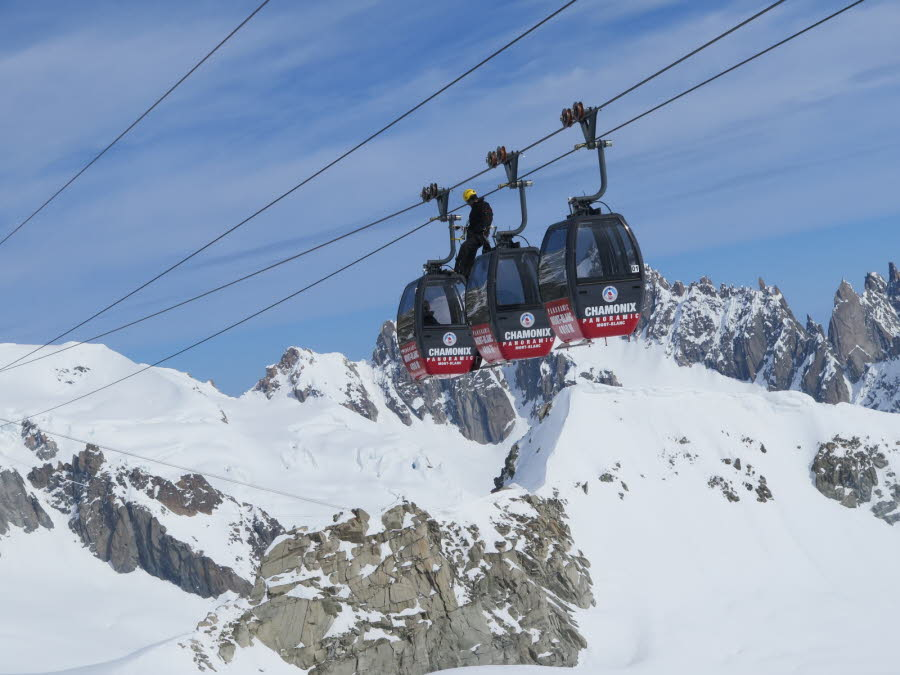 Mont Blanc 33 People Trapped In The Cable Car Chamonix Net