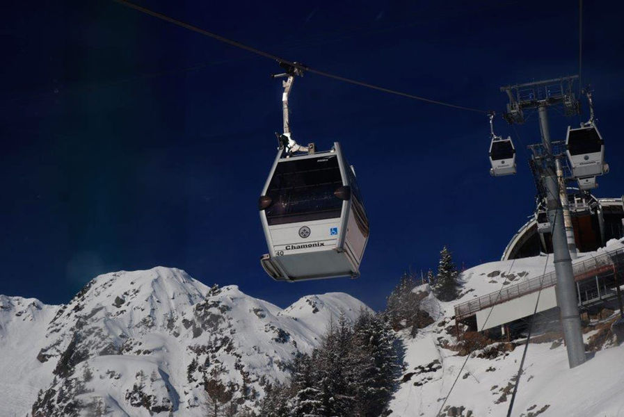 Plan Praz Gondola in Chamonix Brevent ski resort