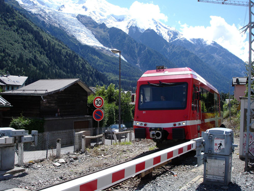 Mont Blanc Express, the Chamonix valley train