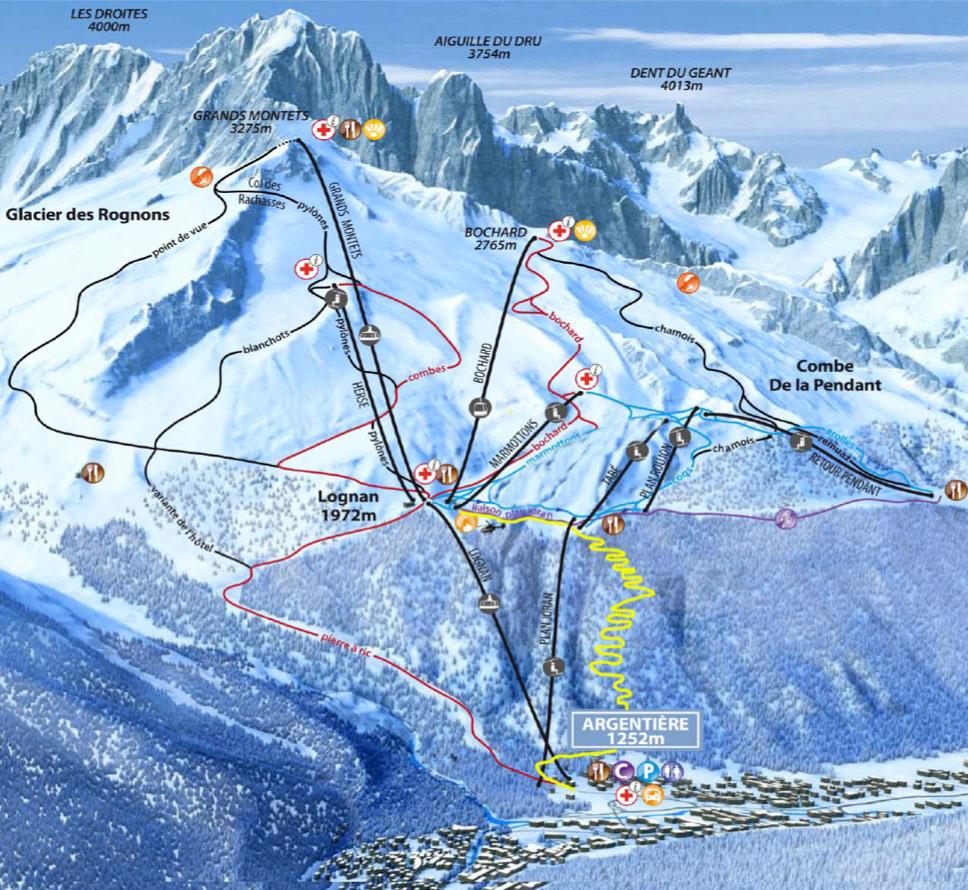 La trapette un nouvel itin raire de ski de randonn e aux grands montets - Meteo chamonix office tourisme ...