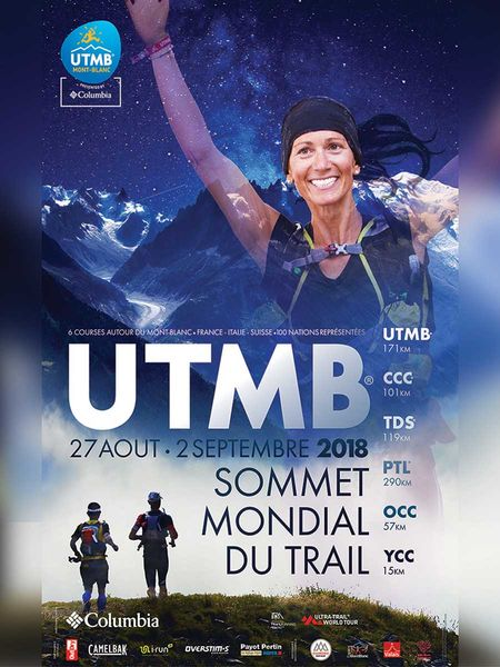 UTMB 2018 poster. Photo source: @chamonix.com