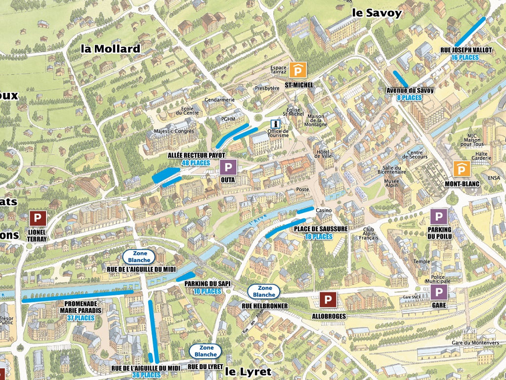 Du Parking Map on